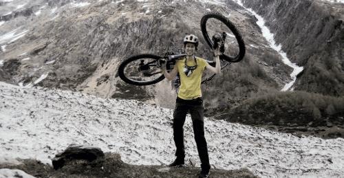 Adula Alps - mountain bike - how to hike a bike